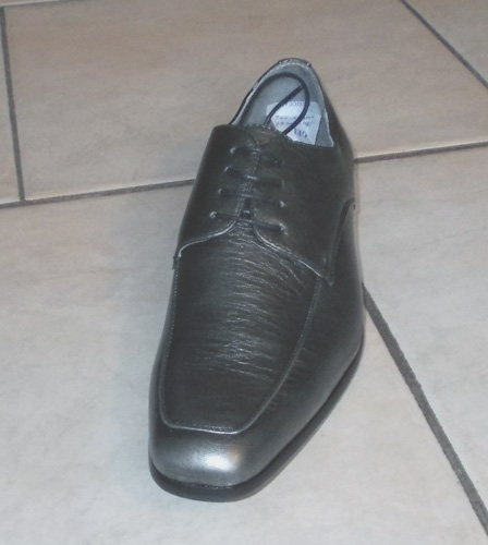 Chaussures à lacets grises argentées