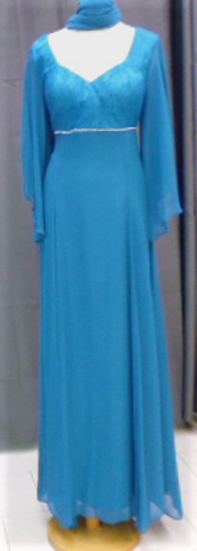 Robe 7167 bleu canard