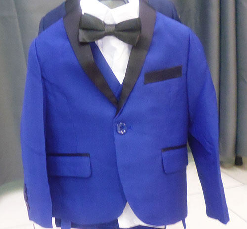 Costume 5 pieces 2014 bleu roy