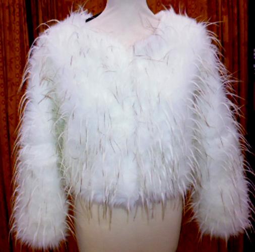 Manteau court plumes