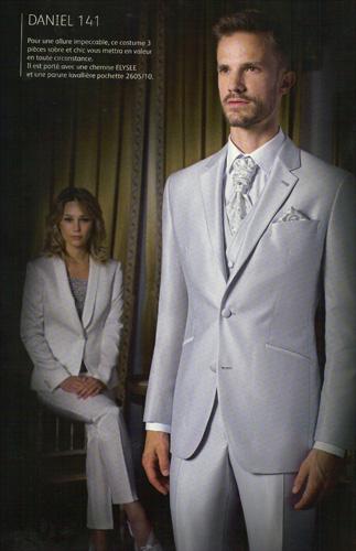 Costume Daniel gris 3 pi�ces