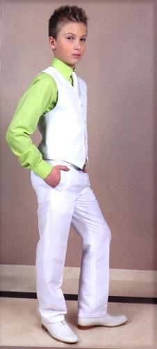 Gilet pantalon façon lin écru