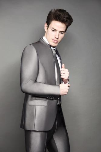 Costume 2 pièces B506 gris anthracite