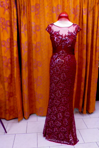 Robe R0331 bordeaux