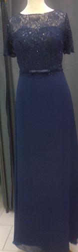 Robe longue 8085 bleu-marine