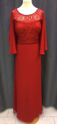 Robe bordeaux 7193