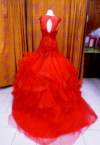 Robe A88 rouge dos