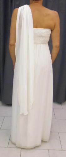 Robe 8005 ivoire dos