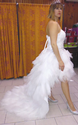 Robe a-398 blanche