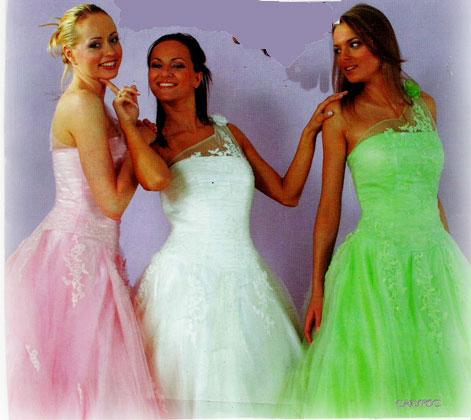 Robe  de cocktail ou mariée calypso verte