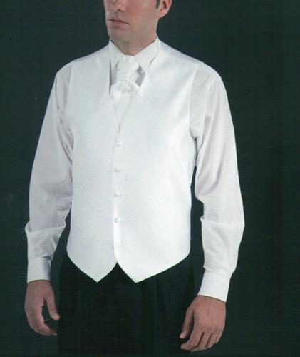 Cravalière et pochette 2202 blanc