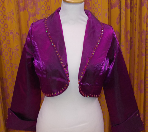 Gilet 8713 violet satiné