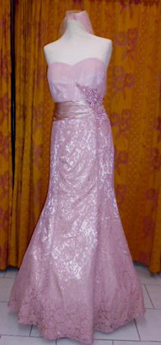 Robe R0214 rose poudrée