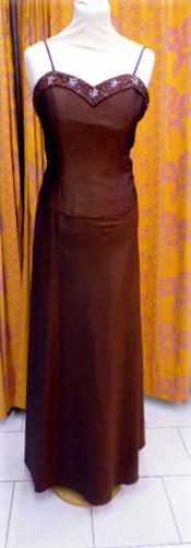 Robe de soirée c7123 chocolat