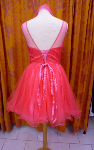 Robe R0510 rose dos