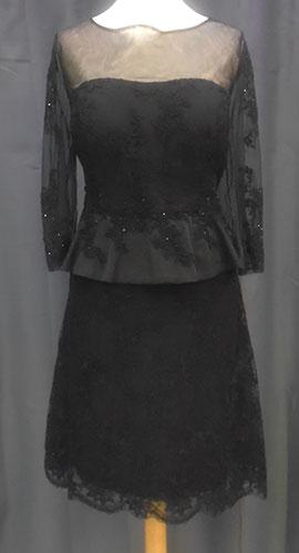 Robe courte 8104 noire