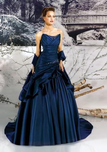 Robe à La Mode Robe Mariee Bleu Marine