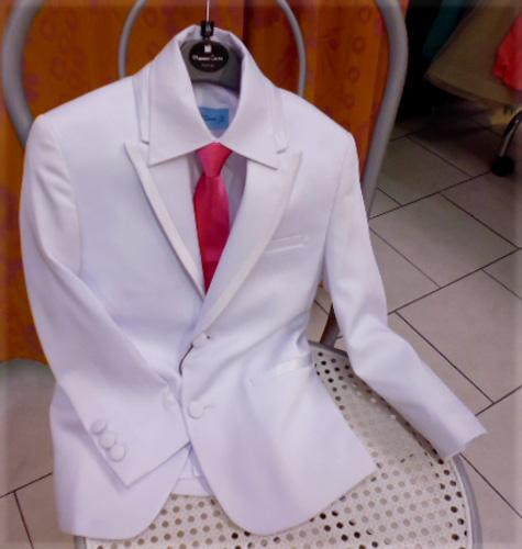 Costume Bugatti enfant blanc