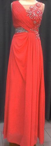 Robe longue 1142 corail