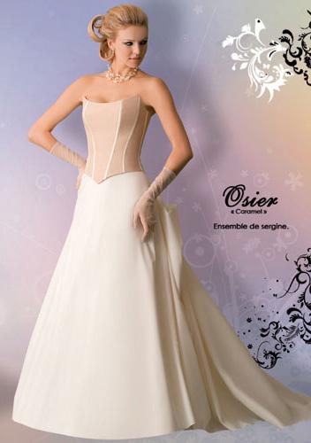 Robe de mariée osier caramel