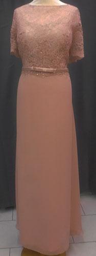 Robe longue 8085 rose-poudre