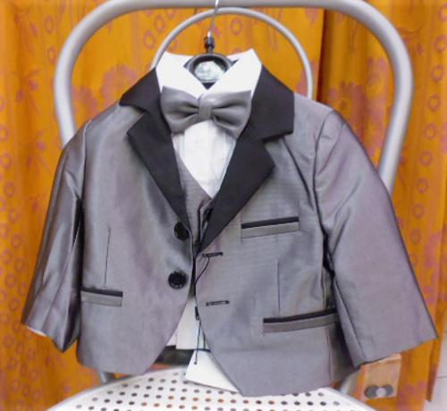 Costume Paulo  gris 5 pièces