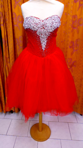 Robe D1162 rouge