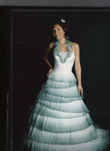 Robe de mariée Garbo Turquoise