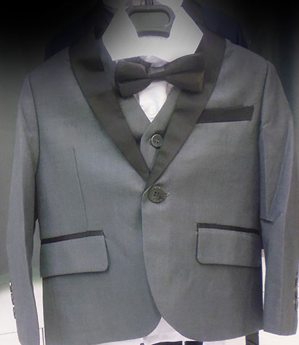 Costume 5 pièces gris