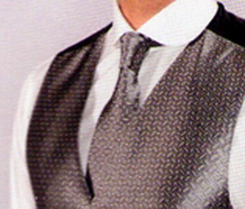 Cravate 2704-40 gris foncé