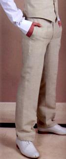 Pantalon lin beige