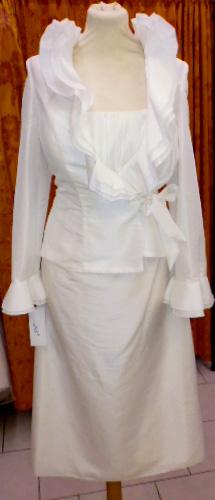 Ensemble veste et robe Joyau ivoire