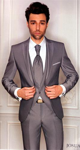 Costume Josua 5 pièces gris argente