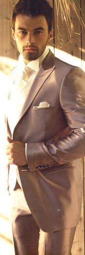 Costume Benton CV15 Chocolat-taupe col officier