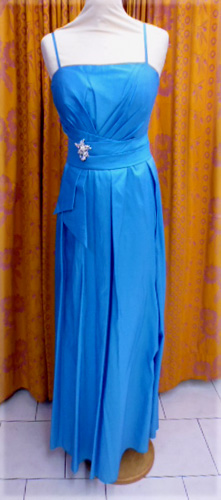 Robe de soirée C655 turquoise