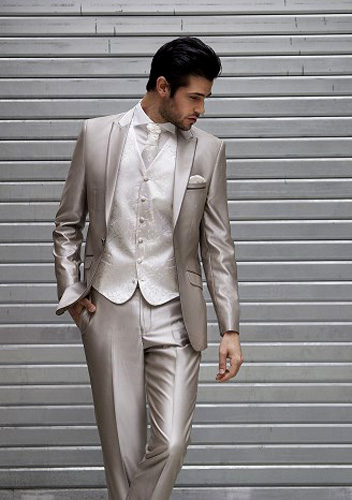 Costume B1 gris clair satiné