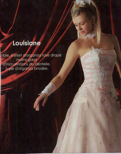 Robe Louisiane rose