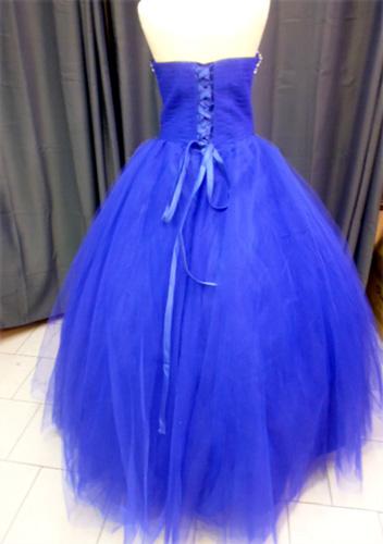 Robe 1162 bleu roy dos
