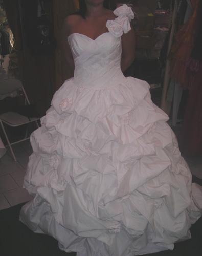 Devant de la robe de mariée Lustre