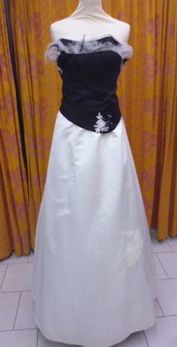 Robe Modulable-noire-ivoire