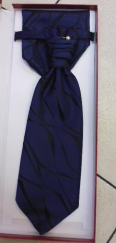 Cravaliere et pochette bleu-noir