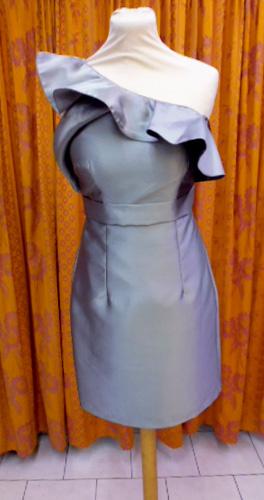Robe de soirée R8023 Argenté
