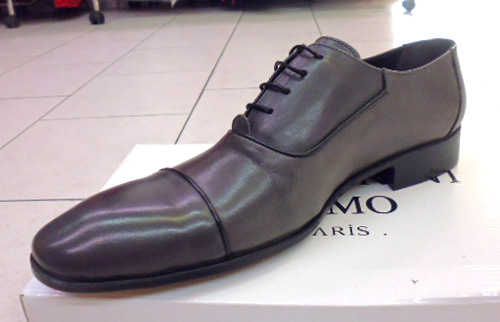 Chaussures grises tout cuir barberini