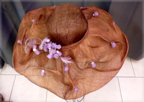 Grand chapeau violine