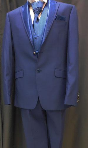 Costume Mars bleu indigo 5 pièces
