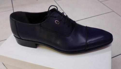 Chaussures bleu-marine homme barberini
