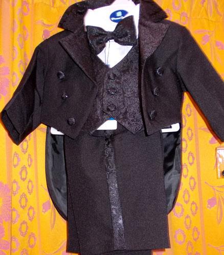 Costume à queue de pie noir 5 pieces