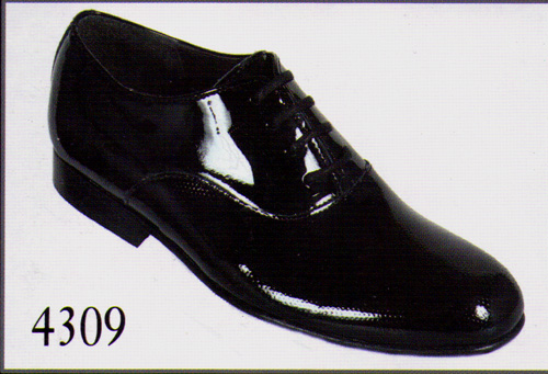 Chaussures 4374 noir-vernies en cuir