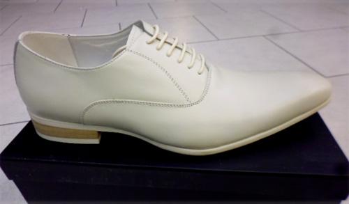Chaussures tout cuir ivoire