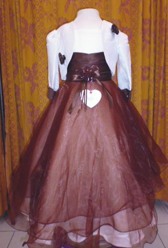 Robe 403 ivoire chocolat